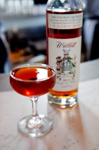 Hard Water cocktails made with house barrel of Willett bourbon