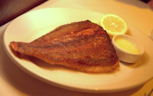 Whole roasted fish, fileted tableside