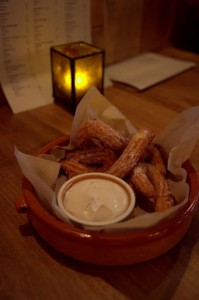 Crispy, warm churros