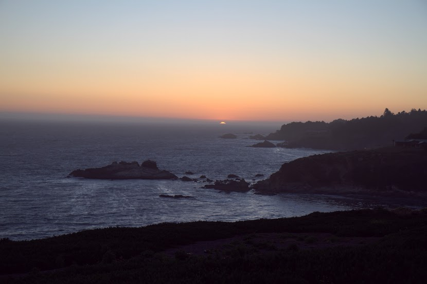 Sunset on the Jenner coastline
