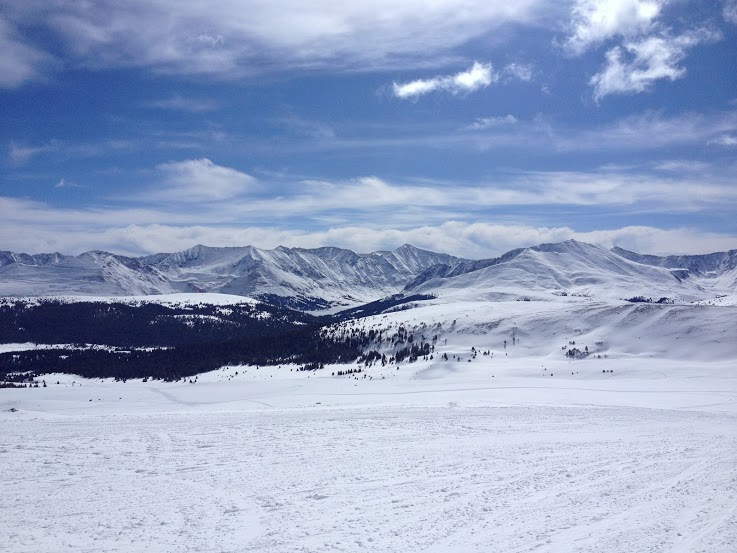 Killer views from a morning of snowmobiling in Leadville with White Mountain Tours