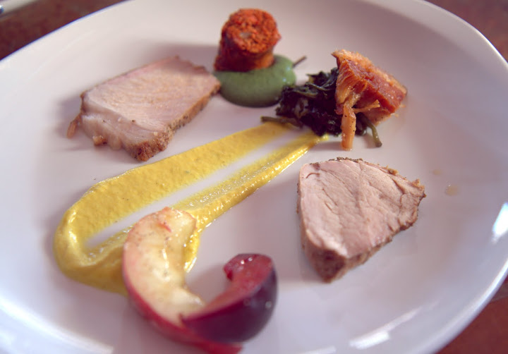 Pork four ways at The Palace