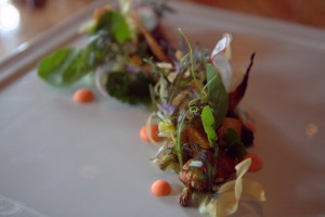 Artful vegetable starter