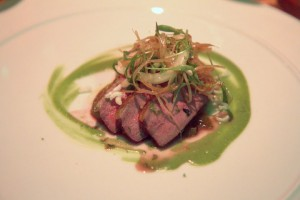 Muscovy duck, tomatillo, coconut milk, green curry