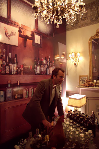 "Nick Strangeway's ""office"", 16 Winchester Walk at Absolut party - private appointments/tastings only"