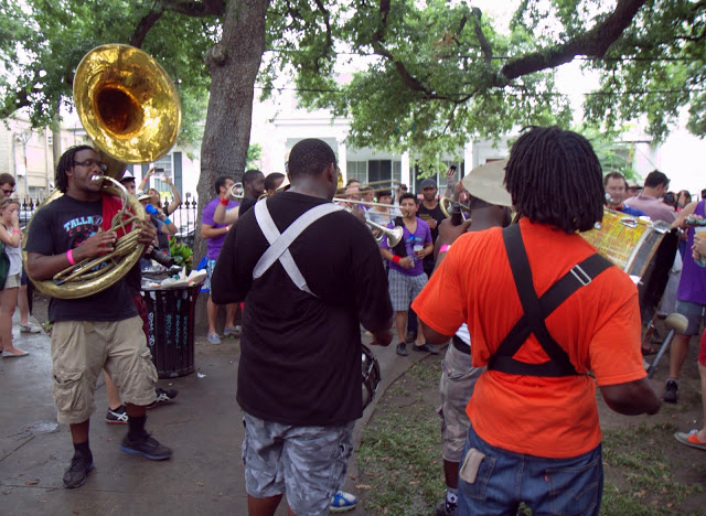 Joyous brass bands, whole roasted pigs and fund-raising for the local community schools in Washington Square Park at Pig 'n Punch, thrown annually by SF's The Bon Vivants