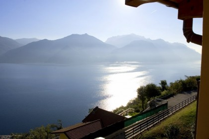 Lake Como view from our villa deck in Menaggio