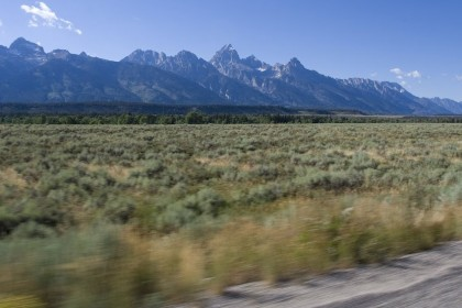 The stunning Grand Tetons