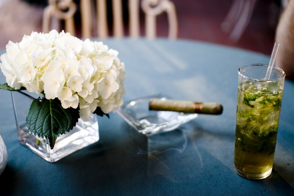 Mint Juleps on the front porch of the Columns Hotel