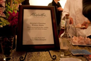 Chocolate Whiskey Alaska for dessert from Absinthe's Luis Villavelazquez
