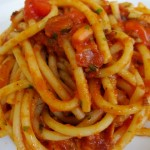 Bucatini all' Amatriciana at La Briciola