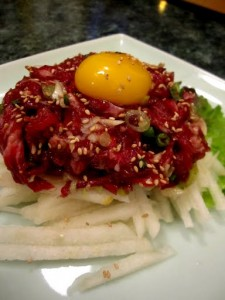 Lucious Raw Beef Salad at To Hyang