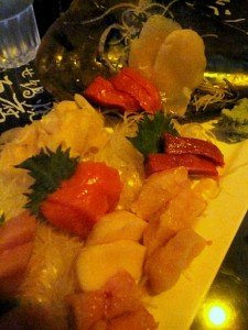 Another of Roger's magnificent sashimi platters at Zushi Puzzle