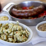 Spaetzle, bratwurst & beers at Tavern at Lark Creek's Sunday Biergarten