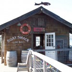 Boat shack at the end of the pier