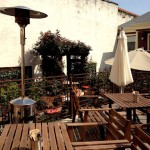Brasa's sunny, charming back patio