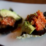 "Saru Sushi Bar's ""spicy cracker"":"