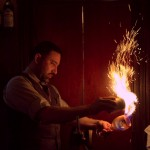 Raoul flames Spanish Coffees at Absinthe