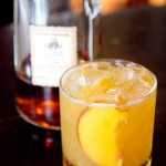 Roses for a Peach - a Summer stunner at Elixir made from one of their Four Roses single barrel whiskies