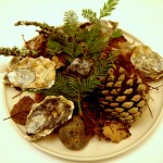 Most aromatic, striking course of the night: Pacific oysters moldering in redwood and pine