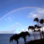 Stunning rainbows were a daily occurrence, here viewed from our Napili Kai deck