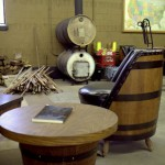Cozy Barrel House tasting room where they distill rum, bourbon, moonshine, vodka