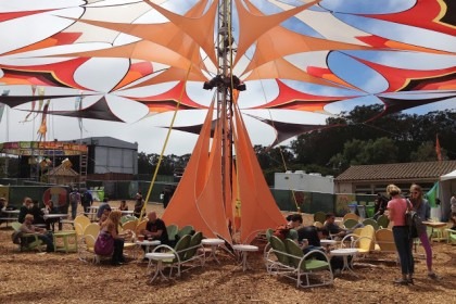 A VIP hangout area for Dynamo Donuts, Blue Bottle Coffee and other treats
