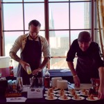 Morgan Shick & Jason Henton of Trick Dog serve compressed Muffalettas & Louie Louie cocktail