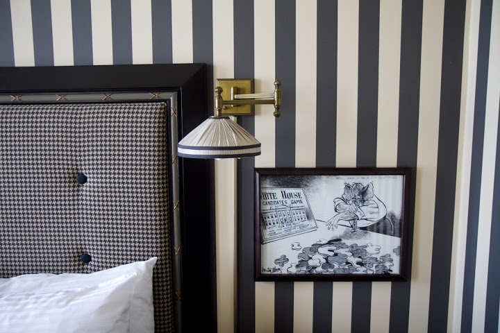 Rooms in the Citizen Hotel - chic, playful design with classic political cartoons