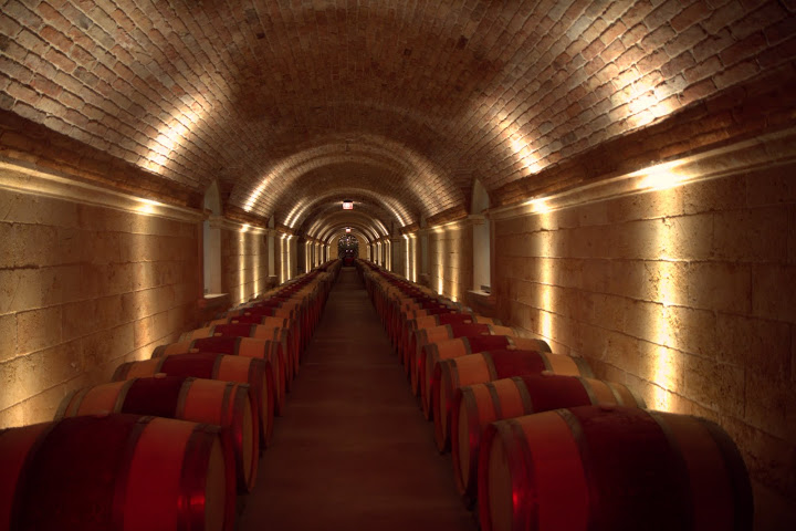 Hall's wine caves hand-built with Austrian bricks