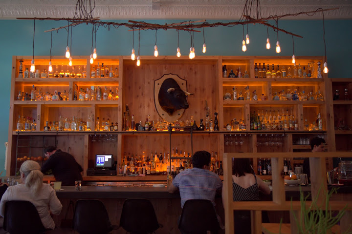 La Condesa's extensive tequila and mezcal bar