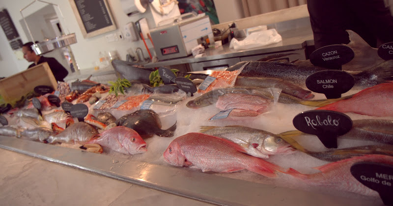 Fish on display at La Trainera restaurant