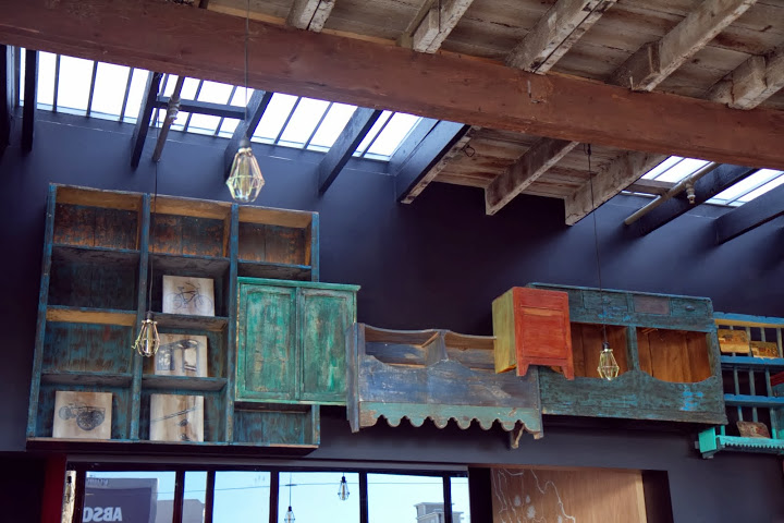 Eclectic Urbana bar shelves from Mexico