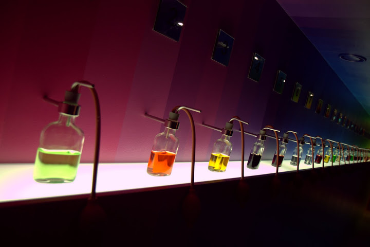 Exploring aromas of Bols liqueurs in their Amsterdam museum