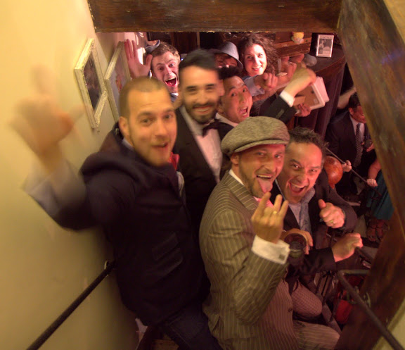 An intimate party at Tales & Spirits (my favorite restaurant/cocktail bar in Amsterdam) to announce the final 12 for Bols Around the World - the final 12 congregate in the stairwell