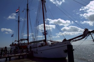 Sailing with Bols Genever to the fishing village of Marken