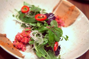 Gorgeous visually & to taste: beef tartare with Thai influences at 1760 (see The Latest)