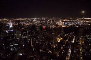"Ever magical from my girlhood and now... the view from Empire State Building on a clear May night (see ""Wandering Traveler"")"