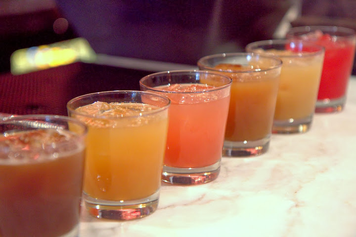 Punch flight from rotating punches on draft