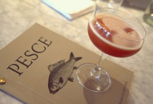 Cocktails at Pesce's bar