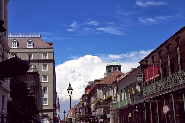 The actual color (and inspiring magic) of a New Orleans sky on a sunny, pristine day