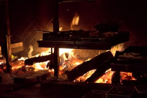 Hearthfire glow ... the source of all cooking at TBD