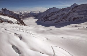 From atop the Jungfraujoch