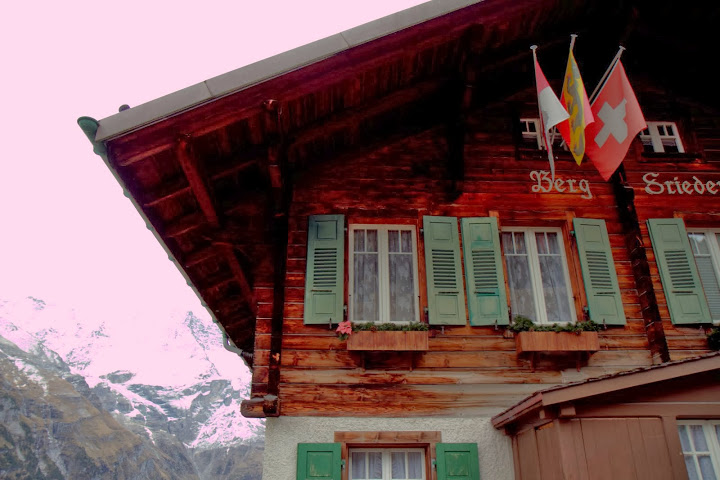 Swiss chalets in Murren