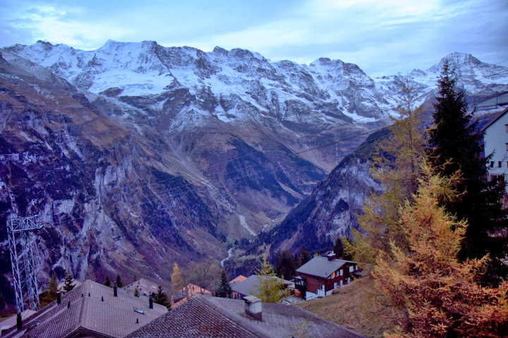 View from my room at Hotel Alpenruh, Murren