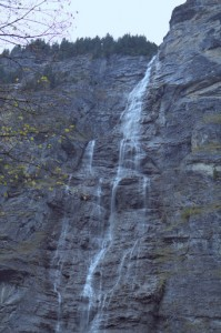One of many waterfalls along the valley