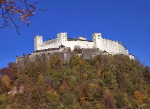 Dominating the Salzburg skyline: Fortress Hohensalzburg (a castle on a hill)