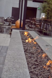 The patio fireplace