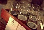 Sampling beers during Strong Beer Month at Magnolia Pub in San Francisco