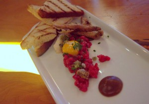 Beef tartare & smelts